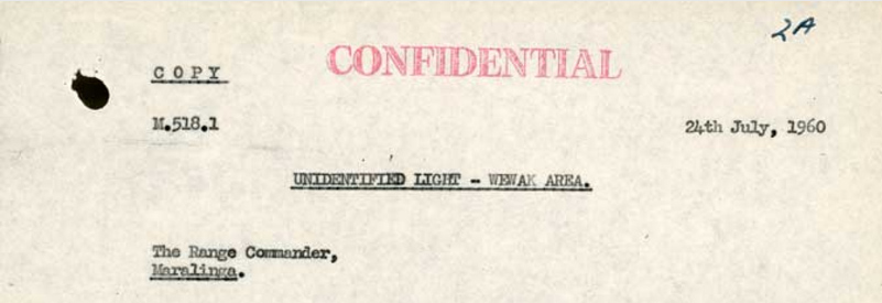 Australian Nuclear Testing UFO incident – Declassified file